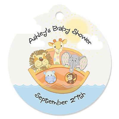 Noahs ark baby shower favor cards