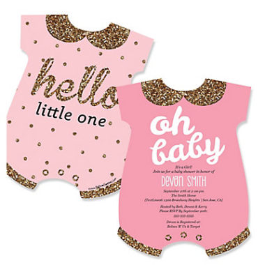 Hello world baby shower invite