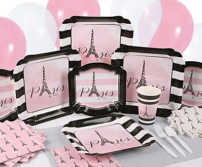 Paris baby shower supplies