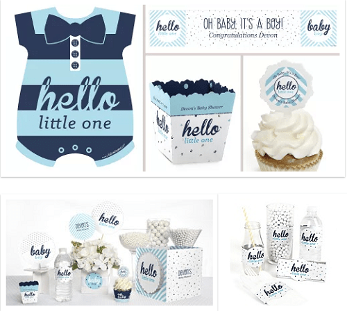 Hello Welcome Little baby boy party supplies