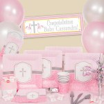 Religious baby girl shower party supplies