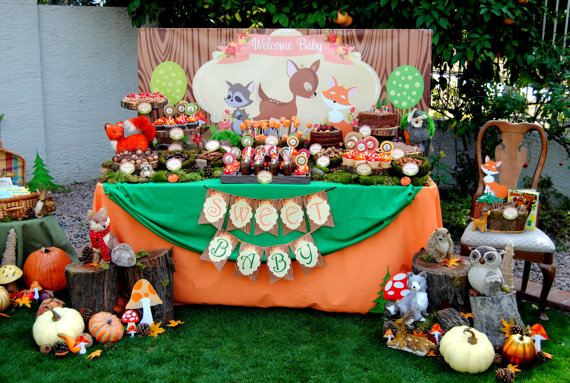 Woodland Baby Shower Ideas ~ Baby shower rustic table setting ideas coma frique studio