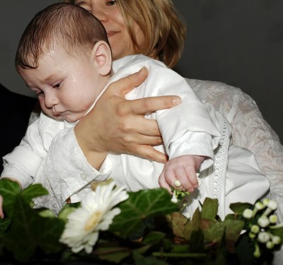 baby boy baptized