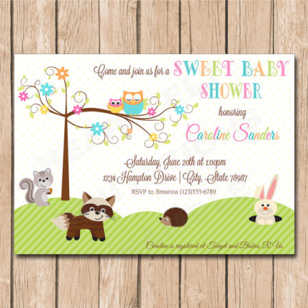 Printable Happi Tree forest baby shower invitation