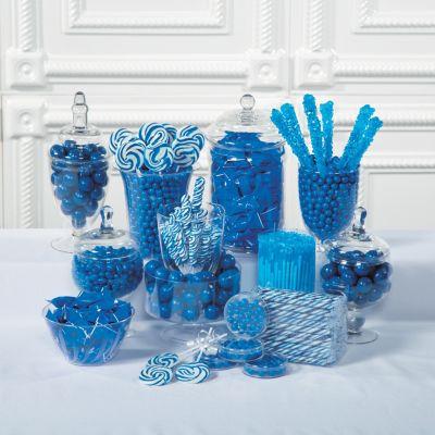 blue baby shower dessert candy buffet supplies