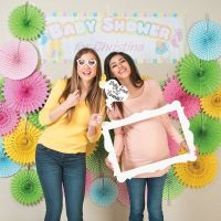 Do It Yourself baby shower photo booth decorations