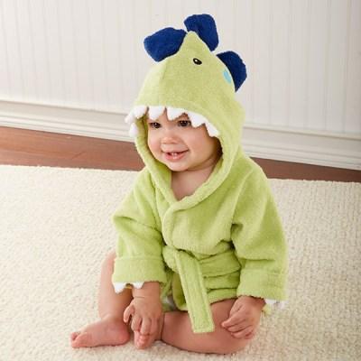 Baby Aspen dinosaur hooded robe