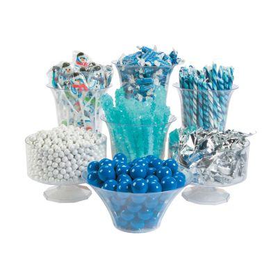 Winter baby shower ideas candy bar buffet supplies