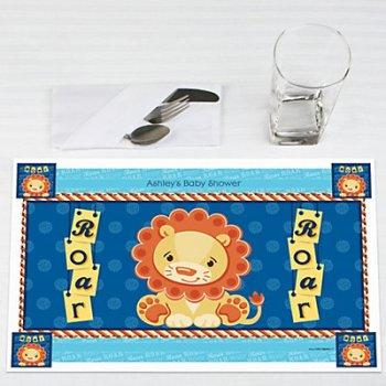 lion boy party place mat