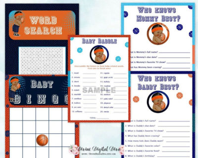 African American Boy digital baseball baby shower games