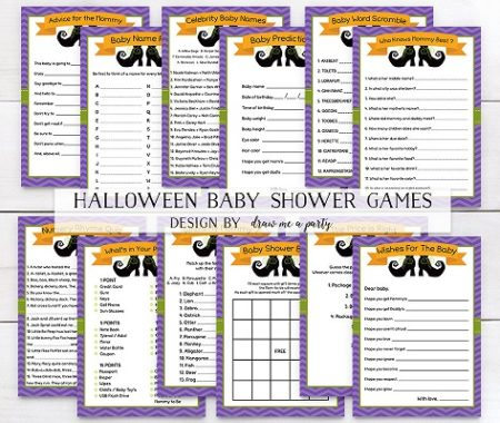 12 Digital Halloween baby party games