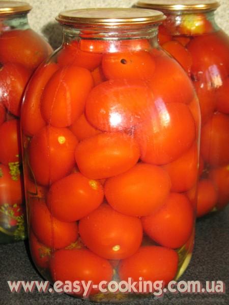 Рецепт консервированых помидоров - Консервация - Кулинарный блог Катрусина кухня