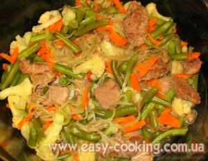 Печеня з телятини і заморожених овочів