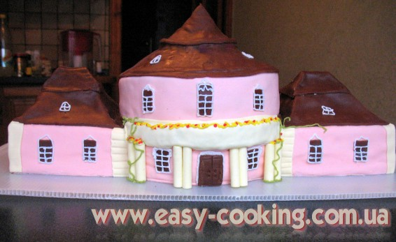 Торт с мастикой - Крыша из шоколадной мастики