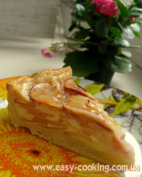 Tasty Apple Pie with Sour Cream Filling - Ukrainian Pastry