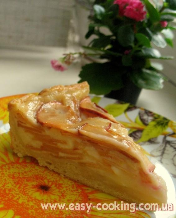 Tasty Apple Pie with Sour Cream Filling - Ukrainian Pastry