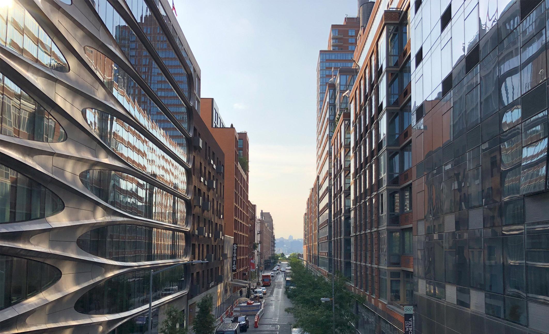 New York Sicht Häuserschlucht