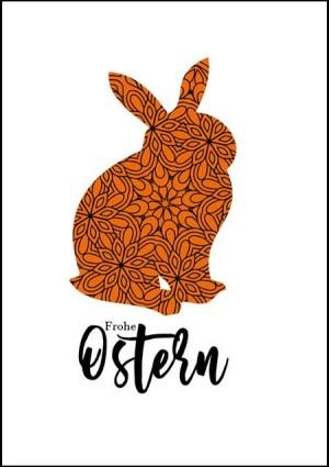 Poster Osterhase Orange