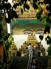Buddhan silmät Swayambhunath -temppelillä Kathmandussa