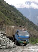 Kivivyöry Karakorumin valtatiellä