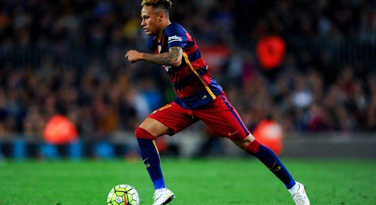 Neymar during a Barcelona match