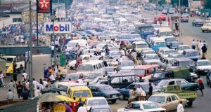 Petrol station during fuel scarcity