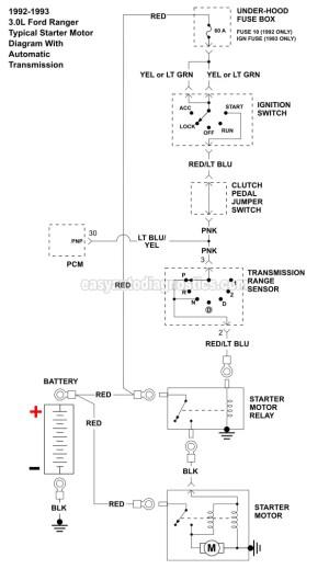 Part 1 19921994 30L Ford Ranger Starter Motor Circuit
