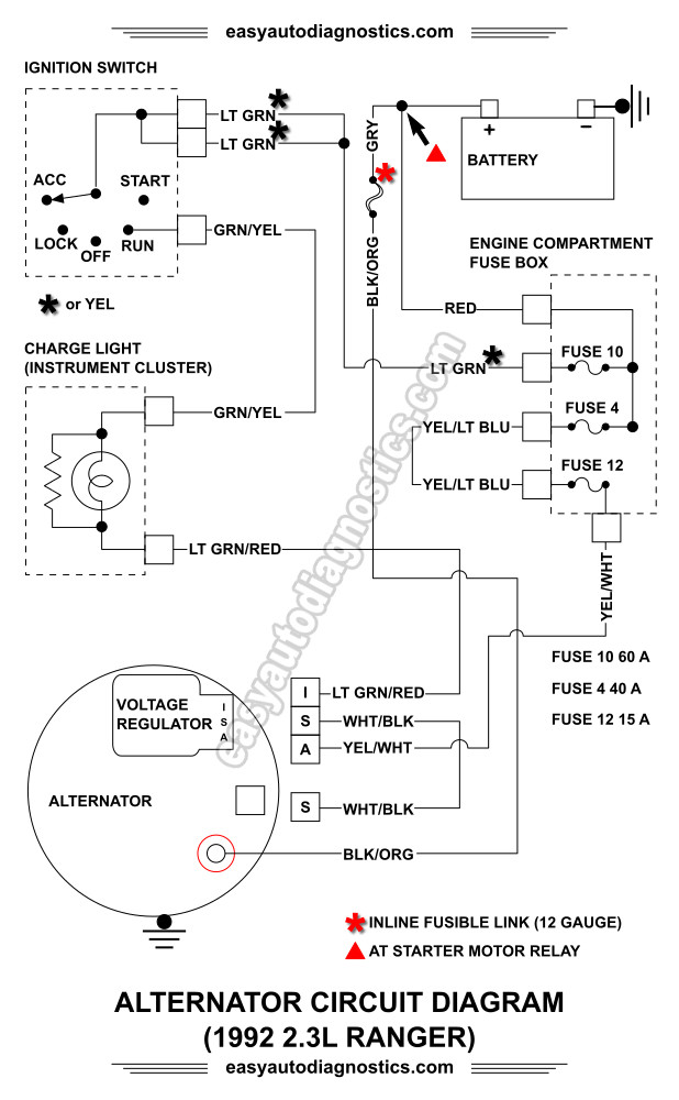 part 1 19921994 23l ford ranger alternator wiring diagram