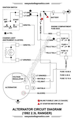 Part 1 19921994 23L Ford Ranger Alternator Wiring Diagram