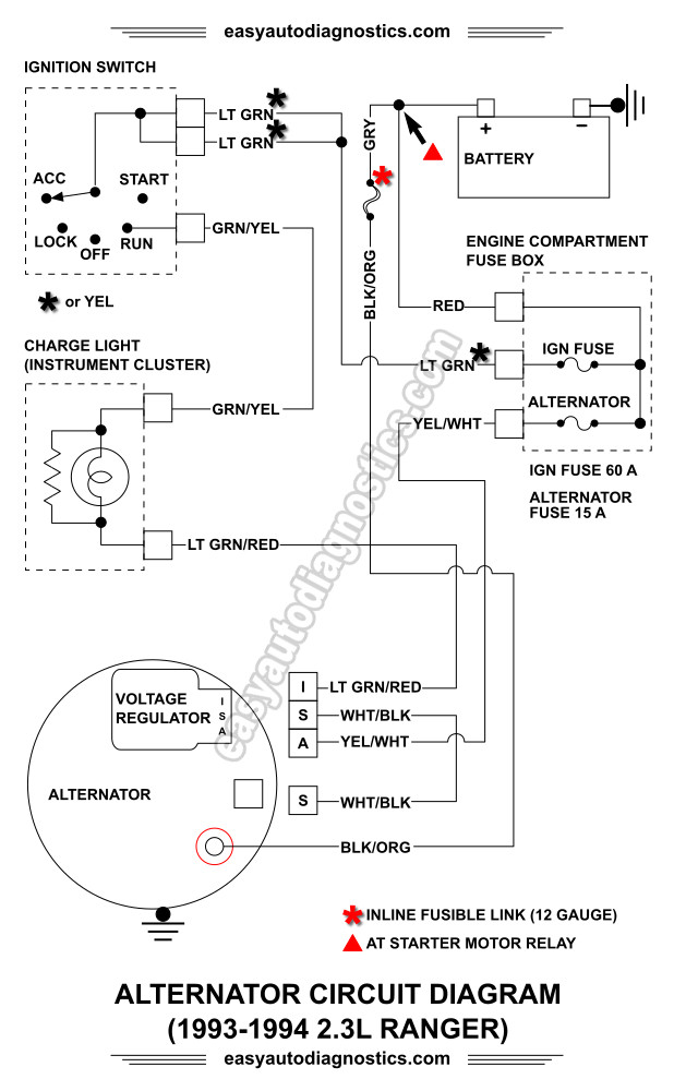 ford ranger alternator wiring diagram 2010 toyota paseo
