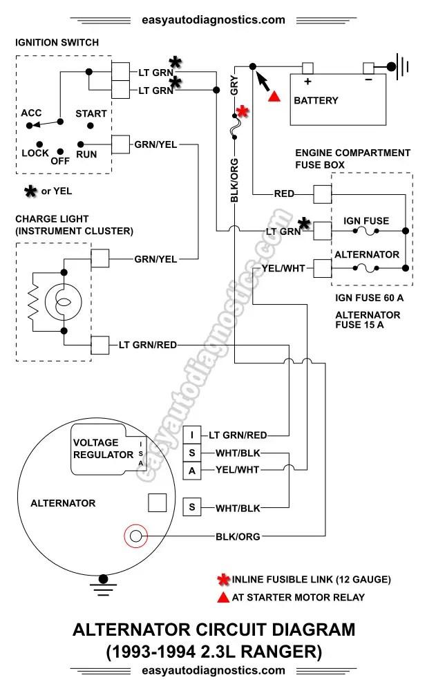 90 mustang alternator wiring diagram  center wiring diagram