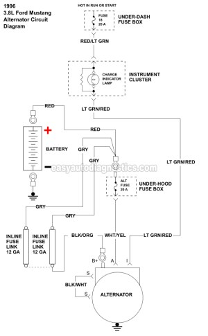 Part 1 Alternator Wiring Diagram (19961998 38L V6 Ford Mustang)