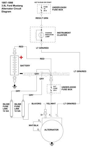 Part 2 Alternator Wiring Diagram (19961998 38L V6 Ford