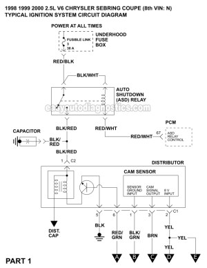 Ignition System Wiring Diagram (19982000 25L V6 Chrysler
