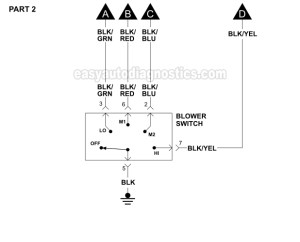 Blower Motor Wiring Diagram (19962000 25L V6 Sebring And