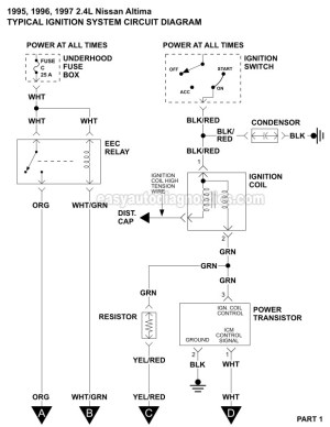 Ignition System Wiring Diagram (19951997 24L Nissan Altima)