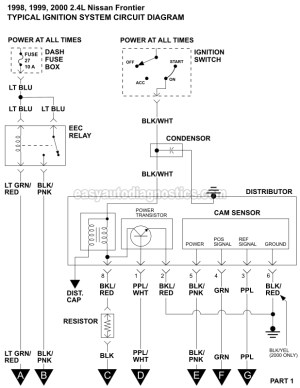 Ignition System Wiring Diagram (19982000 24L Nissan