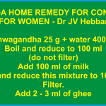 Ayurvedic Ashwagandha Home Remedy For Conception For Women