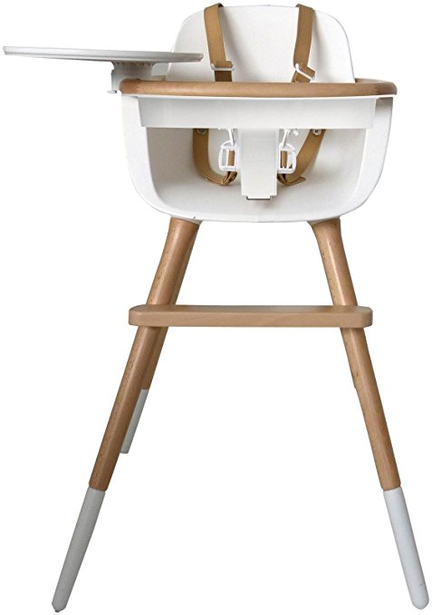 the ovo comes with both fabric and leather strap options for two different price points but finally busting through the perception that a high chair has to