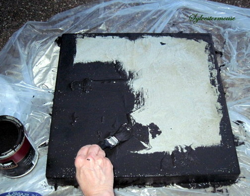 Verdigris Paint Stepping Stones