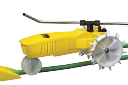 Raintrain Traveling Sprinkler – Easy Lawn & Garden Watering