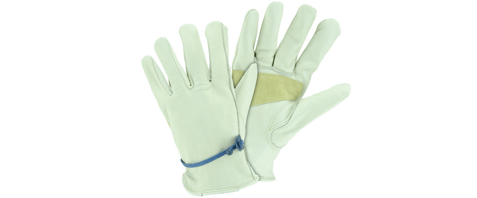 Blue Hawk Leather Garden Work Gloves