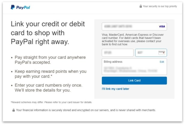 how to create PayPal account step 6
