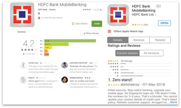 HFDC mobile banking app Android and Apple
