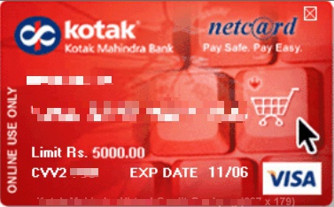 Kotak nets@fe card