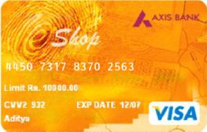 axis bank eshop card