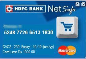 hdfc netsafe card