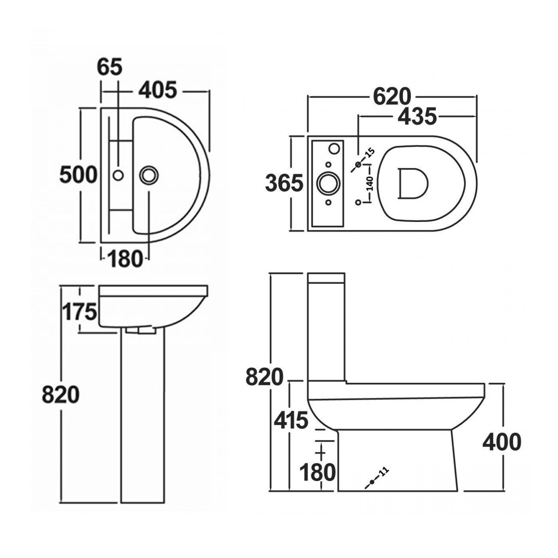 X 800mm Rectangular Double Sliding Shower Enclosure