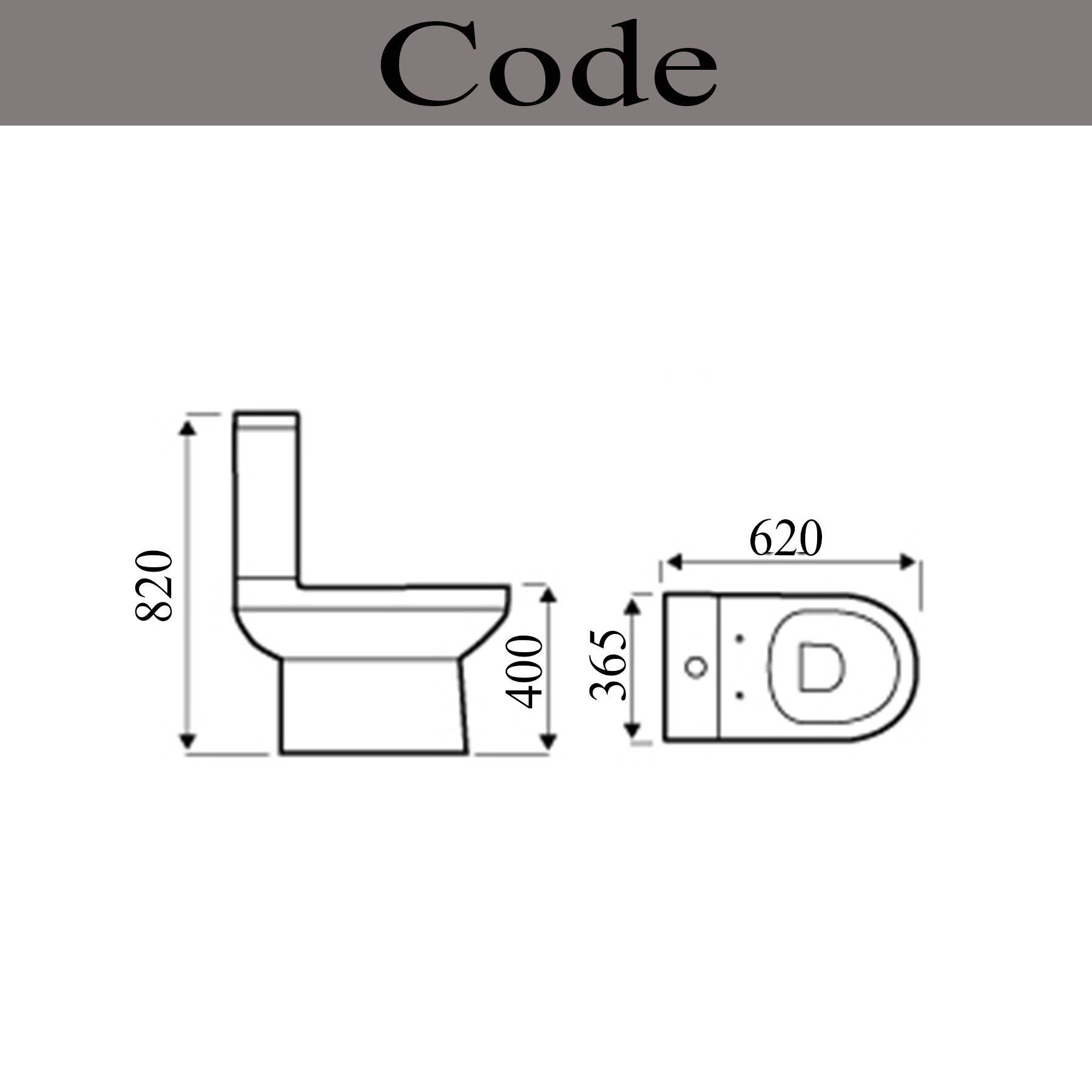 Designer Code White Square Ceramic Close Coupled Bathroom