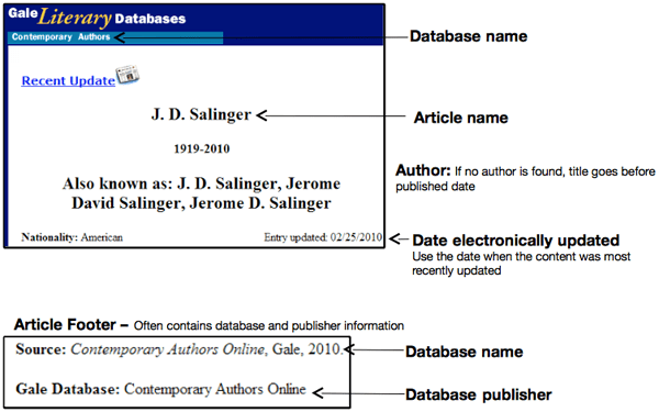 Database « EasyBib